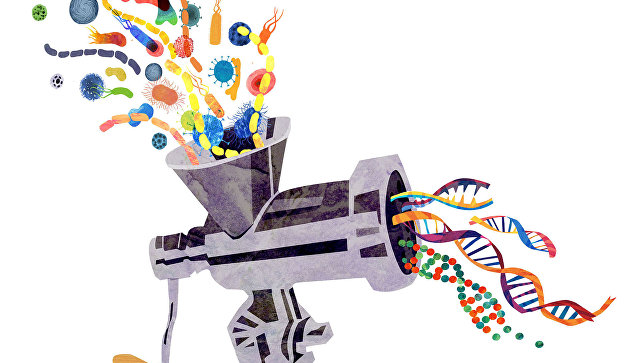 Так художник представил себе процесс анализа геномов разных существ