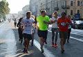 Пресс-секретарь президента РФ Дмитрий Песков во время благотворительного забега SPIEF Race в рамках XX ПМЭФ