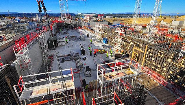 Строительство международного термоядерного экспериментального реактора (ИТЭР). Архивное фото