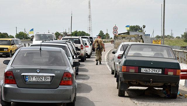 Украинский КПП Чонгар. Архивное фото