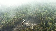 Место крушения самолета Ил-76 МЧС России в Иркутской области. Архивное фото