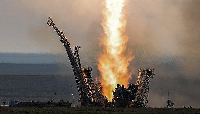 Старт ракеты с космодрома Байконур. Архивное фото
