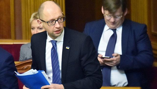 Премьер-министр Арсений Яценюк на заседании Верховной Рады Украины