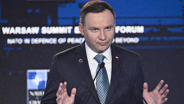 В государство Украину прибыл руководитель Польши Анджей Дуда