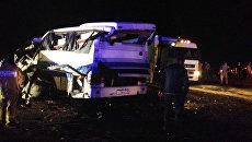 Пассажирский автобус попал в ДТП в Дагестане. Архивное фото