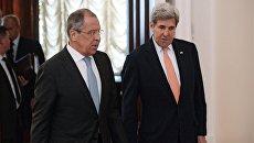 Встреча главы МИД РФ С. Лаврова с Госсекретарем США Дж.Керри. Архивное фото
