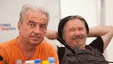 Владимир Шахрин и Владимир Бегунов на пресс-конференции фестиваля MegaFonLive