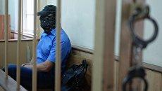 Заместитель начальника управления собственной безопасности Следственного комитета России Александр Ламонов в Лефортовском суде Москвы, где рассматривается ходатайство следствия о его аресте. Архивное фото