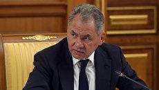 Министр обороны РФ Сергей Шойгу во время заседания кабинета министров РФ. 21 июля 2016