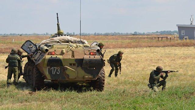 Совместные тактические учения Росгвардии и министерства обороны России. Архивное фото