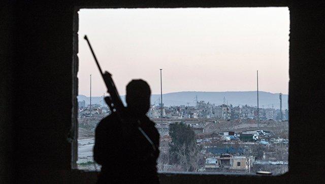 Una zona controllata dai gruppi militanti Dzhebhat al-Nusra.  foto d'archivio