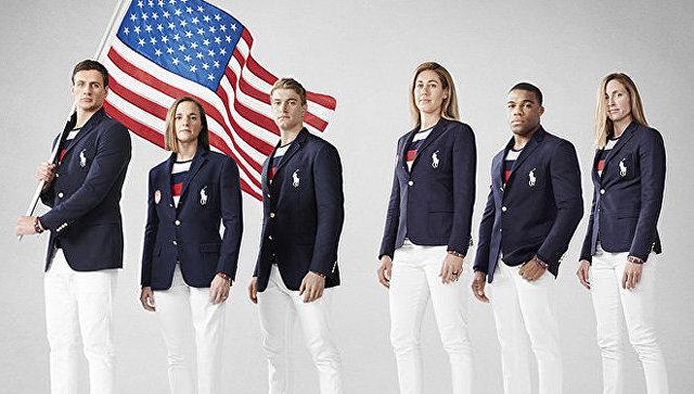 Олимпийская форма сборной США, разработанная дизайнером Ralph Lauren