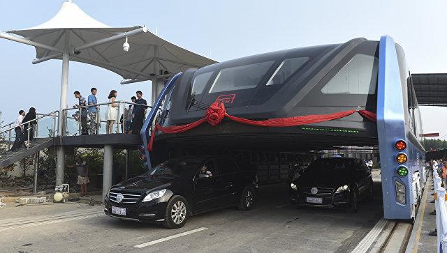 ВКитайской республике был создан автобус, которому нестрашны пробки