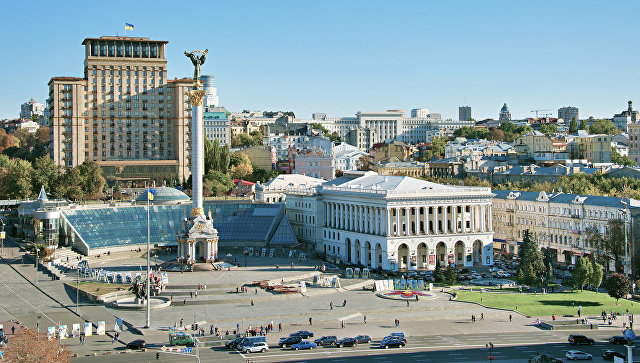 Площадь Независимости в Киеве, Украина. Архивное фото