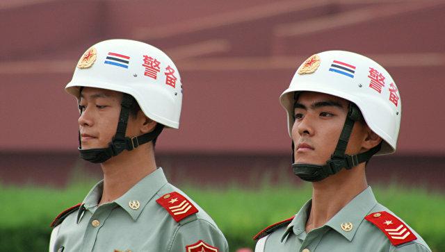 Сотрудники правоохранительных органов КНР. Архивное фото
