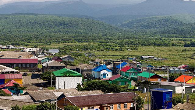 Поселок Курильск на острове Итуруп. Архивное фото