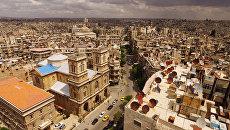 Панорама города Алеппо, Сирия. Архивное фото