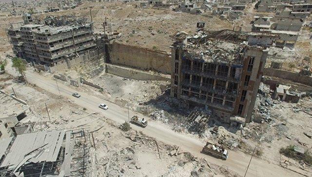 Путь снабжения города Алеппо с северной стороны, квартал Бани-Зейд. Архивное фото