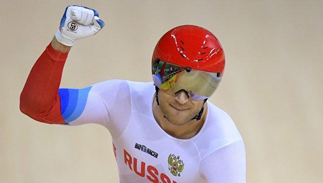 Денис Дмитриев в заезде за третье место индивидуального спринта на XXXI летних Олимпийских играх