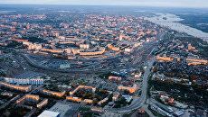 Панорама города Новосибирска. Архивное фото