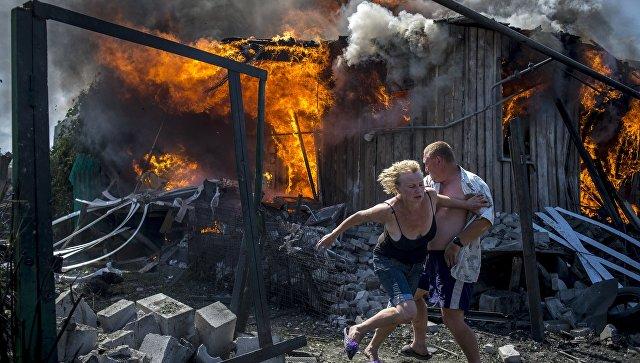 Снимок специального фотокорреспондента МИА Россия сегодня Валерия Мельникова из серии фотографий Черные дни Украины