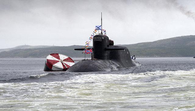 К-117 Брянск - атомный ракетный подводный крейсер стратегического назначения проекта 667БДРМ Дельфин. Архивное фото