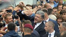Президент Украины Петр Порошенко во время празднования Дня независимости в Киеве, Украина. 24 августа 2016