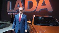 Президент ОАО АвтоВАЗ Николя Мор на Московском международном автомобильном салоне-2016