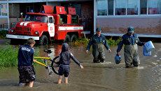 Последствия циклона в Уссурийске, архивное фото