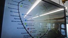 Схема Московской кольцевой железной дороги. Архивное фото