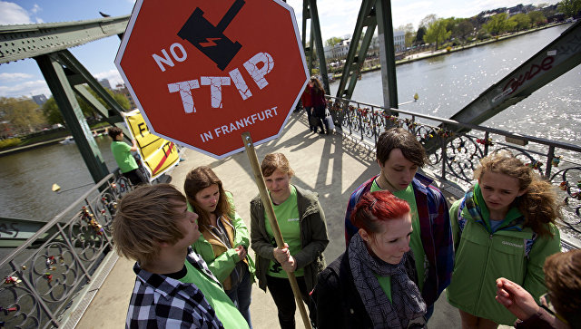 Австрийская Республика поддержала прекращение переговоров озоне свободной торговли междуЕС иСША