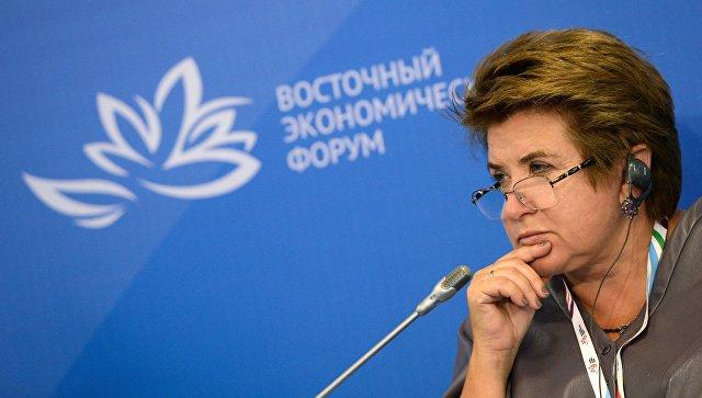 Руководитель Россотрудничества Любовь Глебова на Восточном экономическом форуме во Владивостоке