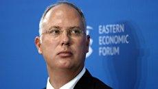 Генеральный директор Российского фонда прямых инвестиций Кирилл Дмитриев на Восточном экономическом форуме во Владивостоке