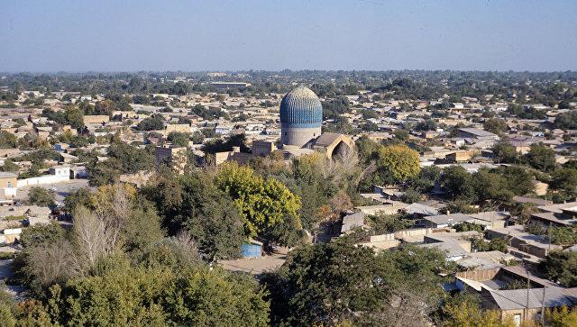 Вид города Самарканда. Архивное фото