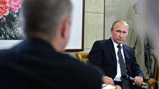 Президент РФ Владимир Путин на пресс-конференции по итогам саммита Группы двадцати G20 в Ханчжоу. 5 сентября 2016