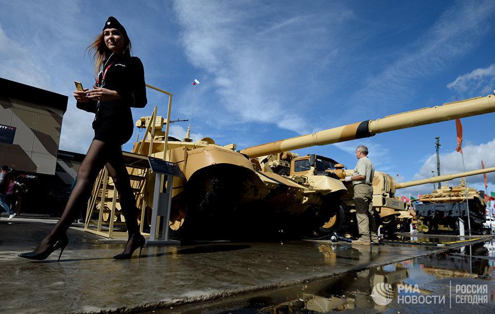 Танк Т-90МС на экспозиции Международного военно-технического форума АРМИЯ-2016