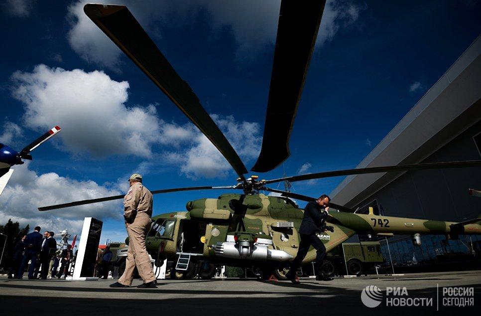 Многоцелевой вертолет Mи-17В-5 на экспозиции Международного военно-технического форума АРМИЯ-2016