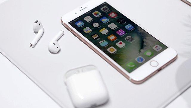Новый iPhone 7 на презентации в Сан-Франциско