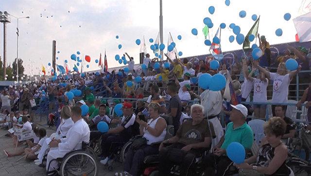 Открытие фестиваля паралимпийцев Пара-Крым 2016 в Евпатории
