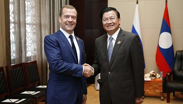 Медведев и премьер Лаоса обсудят двустороннее сотрудничество 26 сентября