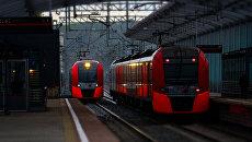 Электропоезда в Москве. Архивное фото