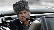 Празднование Дня города на Красной площадиАктер Владимир Зельдин в театрализованном представлении на Красной площади в Москве в честь Дня города