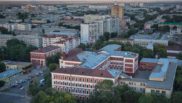 Вид на город Благовещенск в Амурской области. Архивное фото
