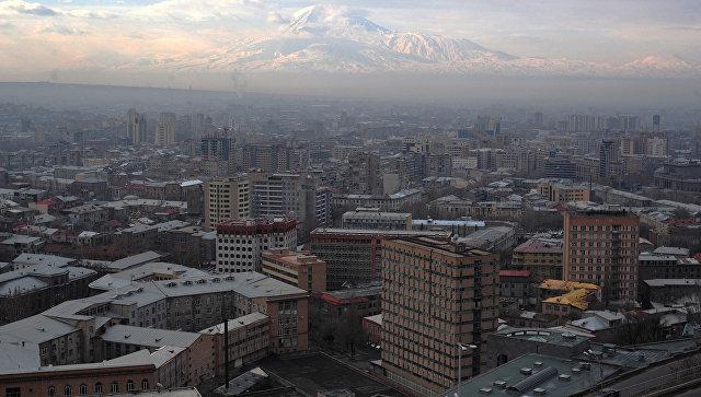 Вид Еревана, Армения