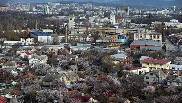 Вид на Симферополь, Крым. Архивное фото
