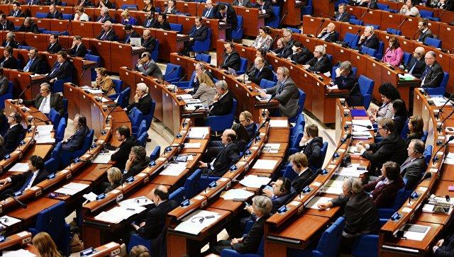 Пленарное заседание зимней сессии Парламентской ассамблеи Совета Европы (ПАСЕ). Архивное фото