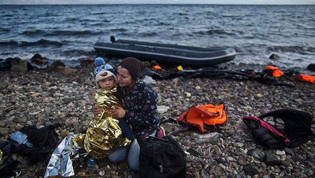 Мигранты из Сирии на греческом острове Лесбос. Архивное фото