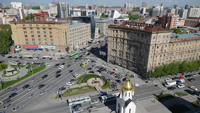 Вид Новосибирска. Архивное фото