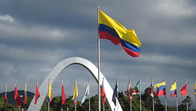 Флаг Колумбии. Архивное фото