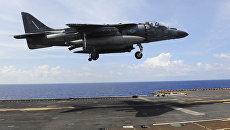 Штурмовик ВВС США McDonnell Douglas AV-8B Harrier II. Архивное фото